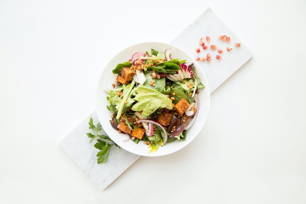 Salat Catering, Lieferung, Berrymans