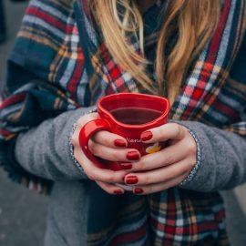 Warme Getränke im Winter