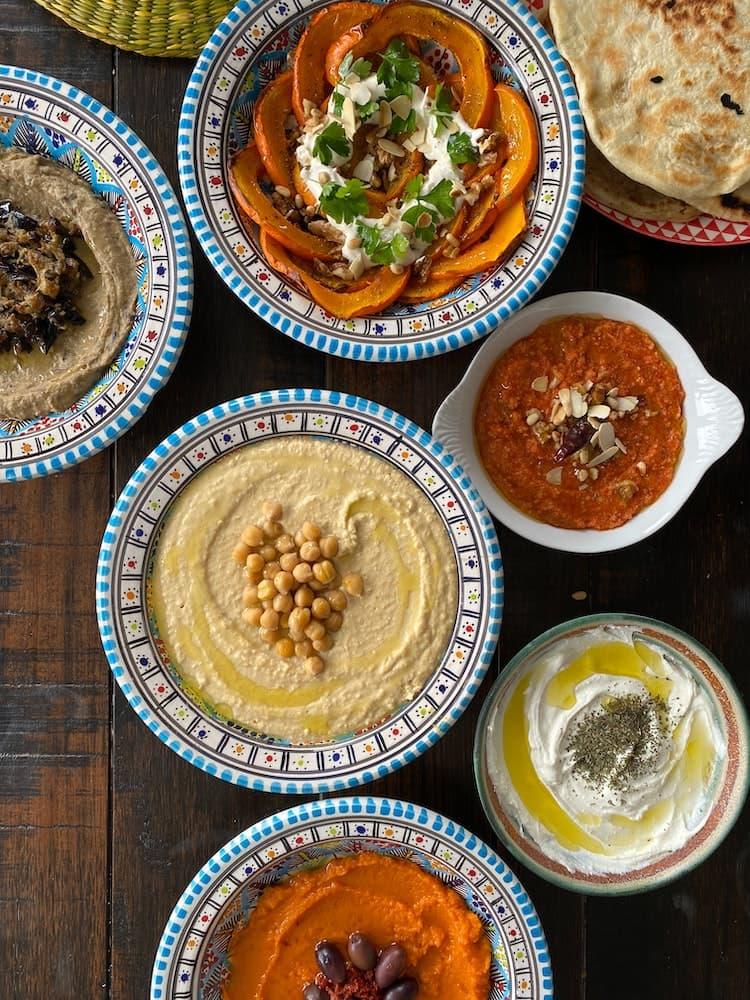 orientalisches-essen-humus-pasten